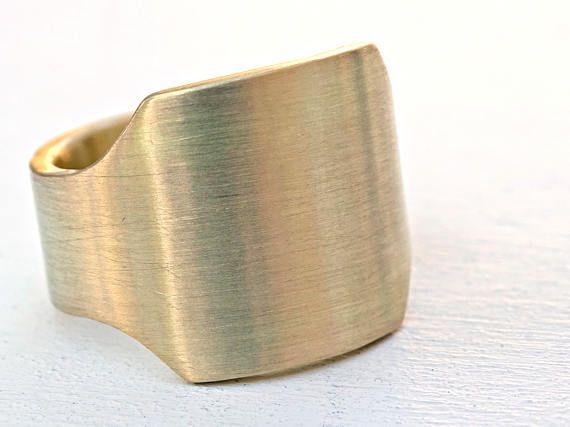 mens signet ring brass brass signet ring gents ring brass