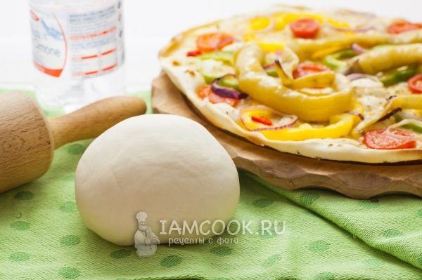 Постное тесто для пиццы без дрожжей
