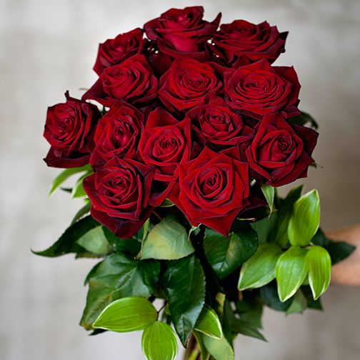 Our very own bouquet of holiday roses