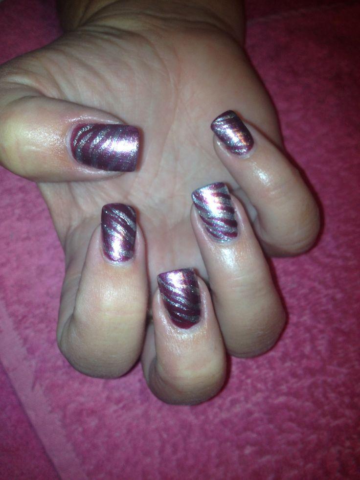 Silver tiger/purple