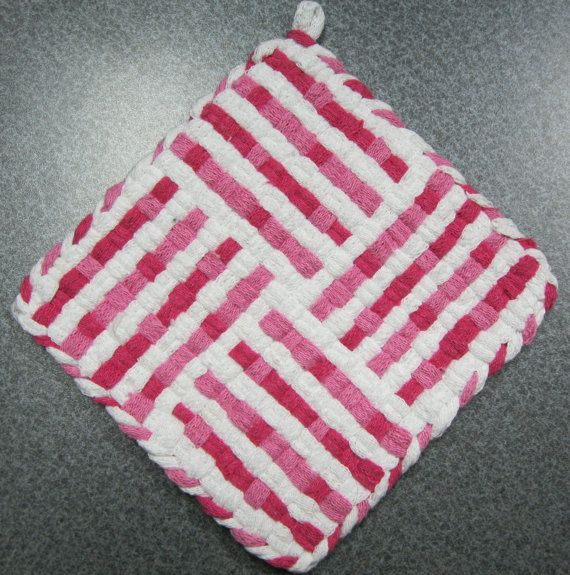 55 Best Images About Woven Potholders On Pinterest Loom