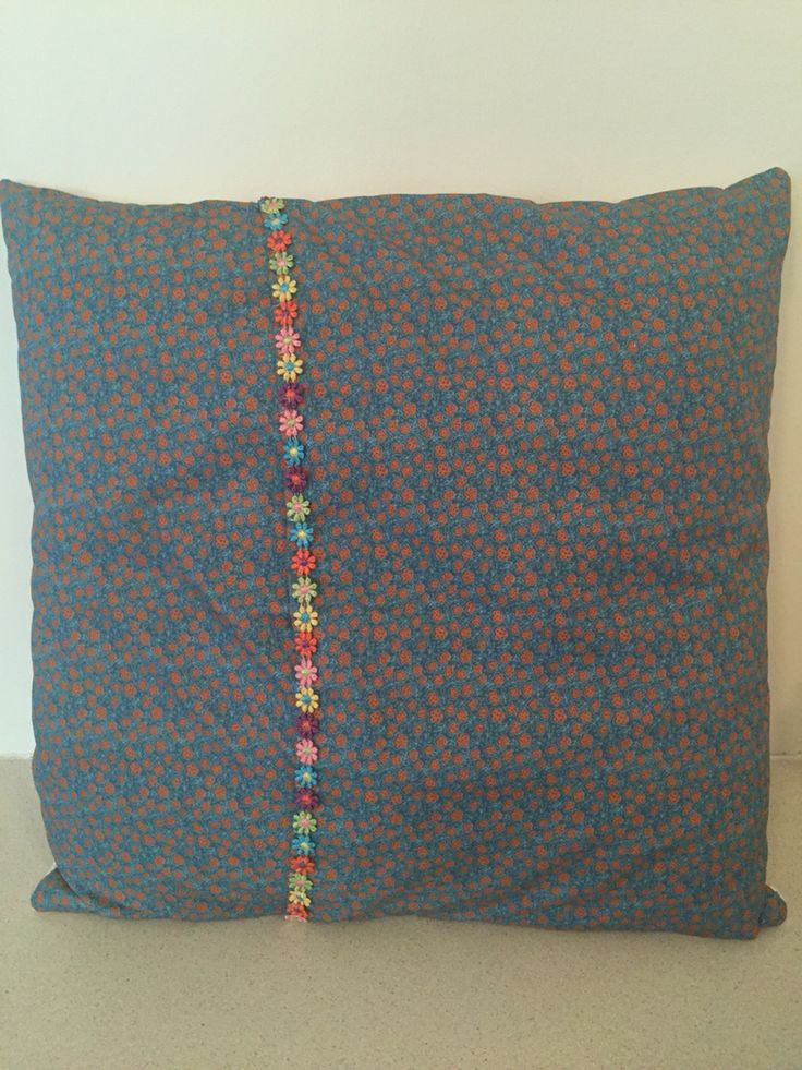 Back of quilted cushion, envelope style