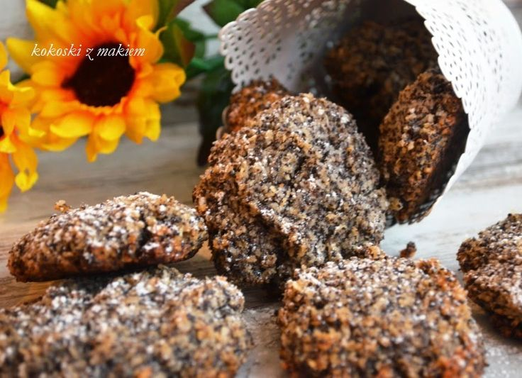 Smak, zapach, kolor, tradycja z nutką nowoczesności...: Kokosowe ciasteczka z makiem- makowe kokoski