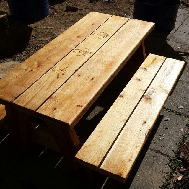 Children's size cedar picnic table by James Waters Creations