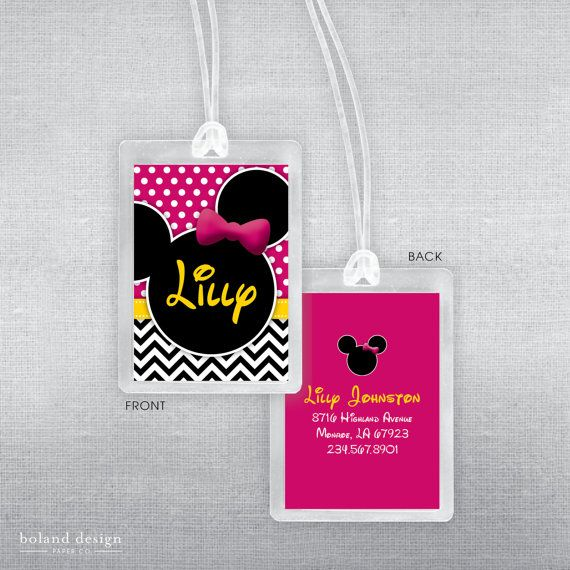 Perfect for luggage or bags for your spring break or summer vacation to Disney! Get the matching Disney autograph book too!