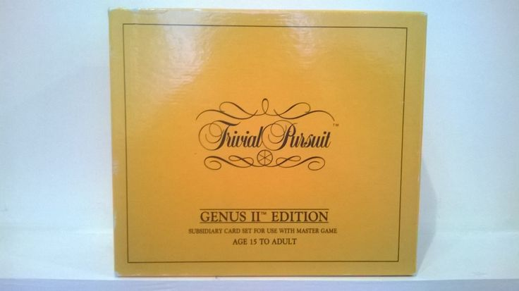 Trivial Pursuit Genus Edition Subsidiary Cards For Use With Main Game 1986 Second Edition 100% Complete Excellent Condition 1000 Questions by billingsleyson on Etsy