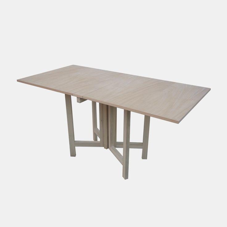 Tavolo pieghevole modello farfalla in legno grezzo ...