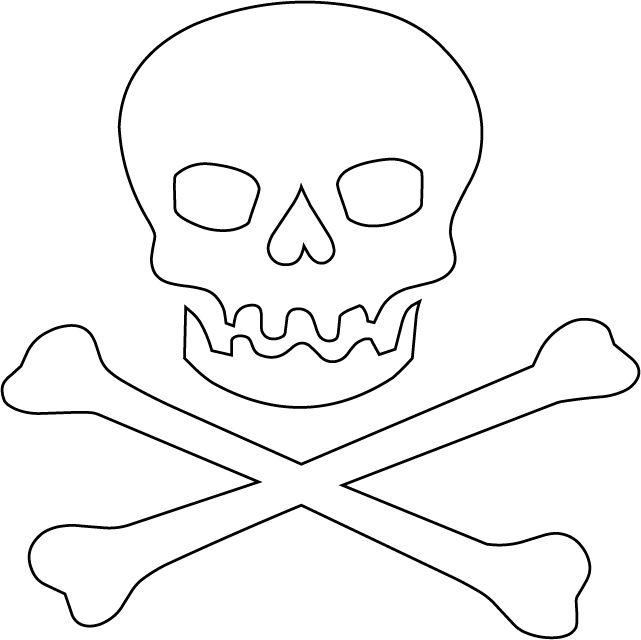 dibujo de calavera pirata para imprimir - Buscar con Google