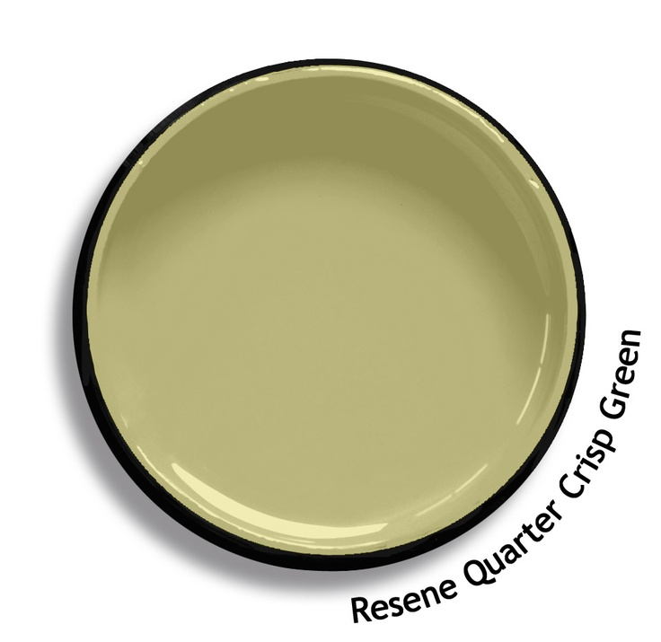 Resene Quarter Crisp Green is a mid tone green blended with yellow. From the Resene Karen Walker Paints colour range. Try a Resene testpot or view a physical sample at your Resene ColorShop or Reseller before making your final colour choice. www.resene.co.nz/karenwalker.htm