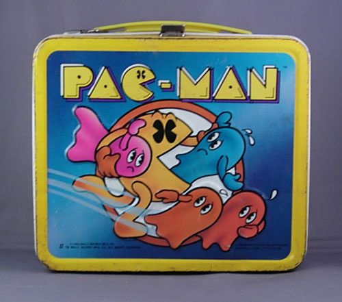 Vintage PAC-MAN lunchbox recently sold on eBay