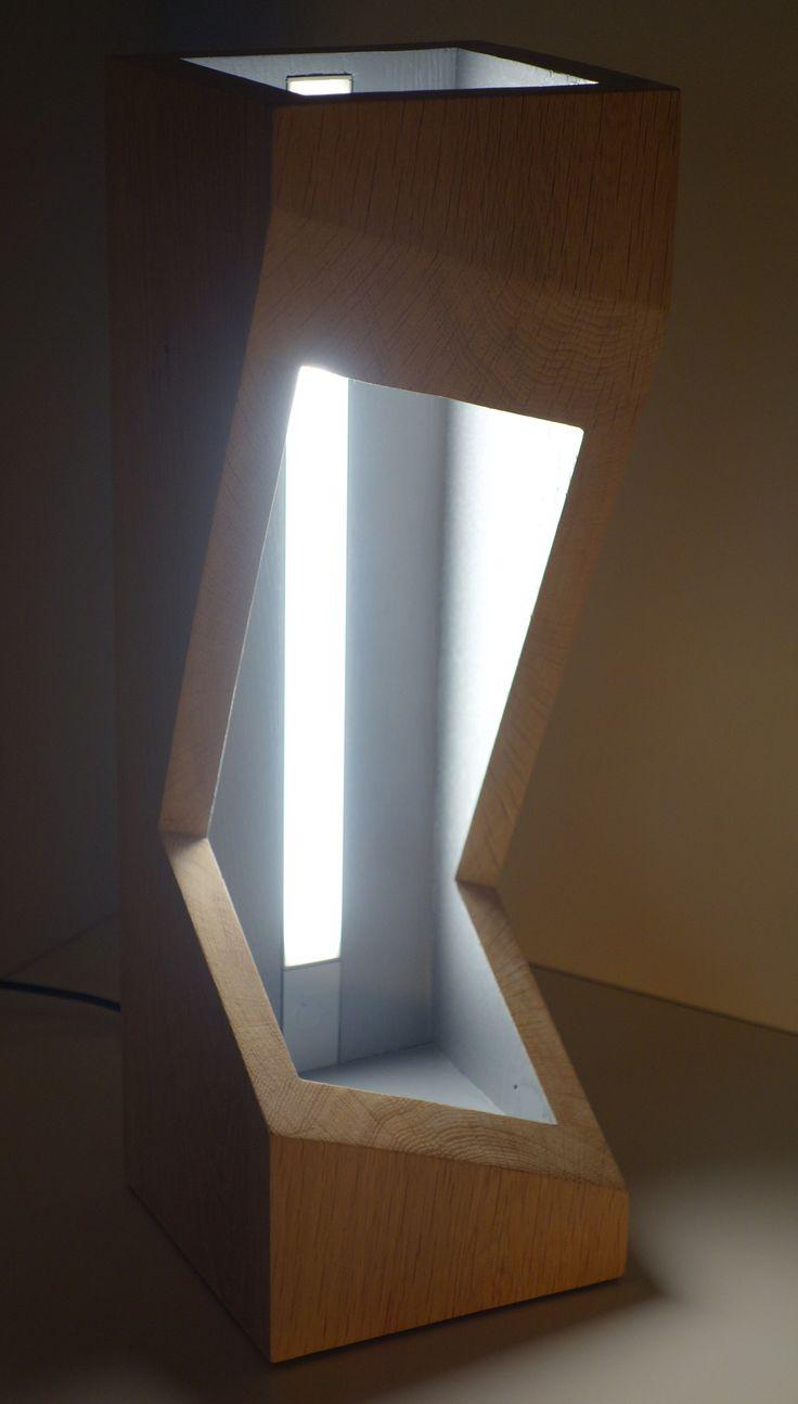 lampe cut 39 o ch ne diodes et interrupteur sensitif. Black Bedroom Furniture Sets. Home Design Ideas