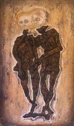 """Forever Embrace"" – Oil on canvas – 48 x 32″ (2004) nickhelton.com"