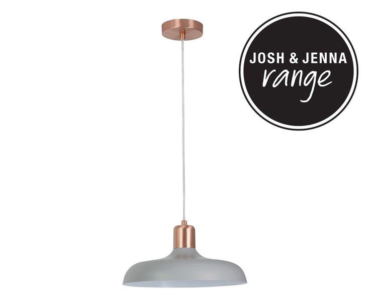 Croft 1 Light Pendant in Brushed Copper/Ash