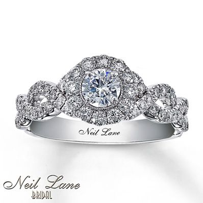 Diamond Engagement Ring 1 ct tw Round-cut 14K White Gold from Kay Jewelers ***HIGHLIGHT! STAR! REMEMBER THIS!!!!!*** GORGEOUS <3 <3 <3 <3