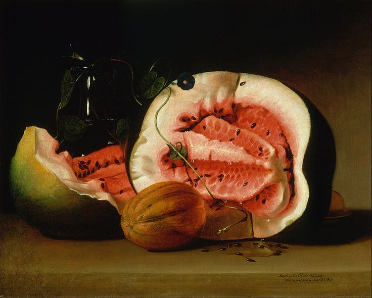 Raphaelle Peale Melons & Morning Glories 1813