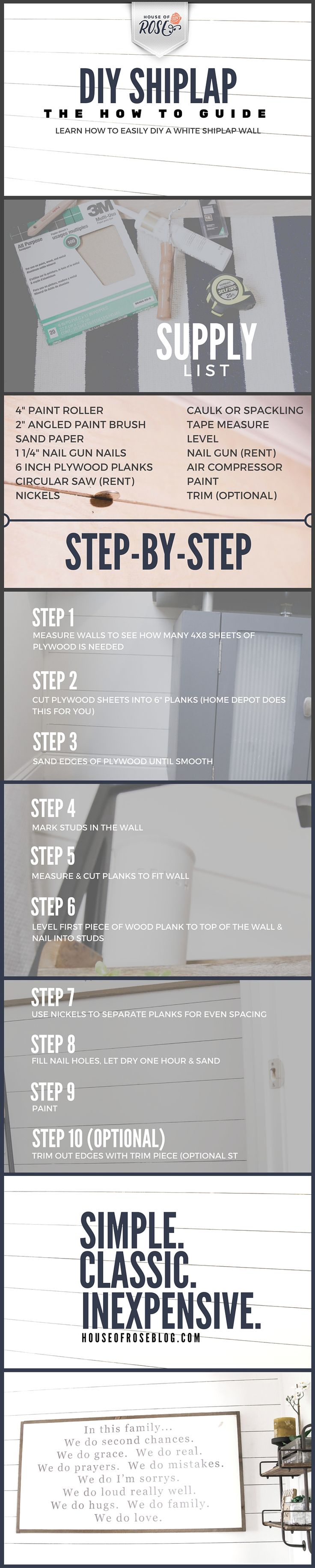 Attention all Joanna Gaines wannabe's… If you didn't already want to shiplap your entire home before today, you will want to now. Because 2 things: It is so super EASY.  It is so super INEXPENSIVE. Oh