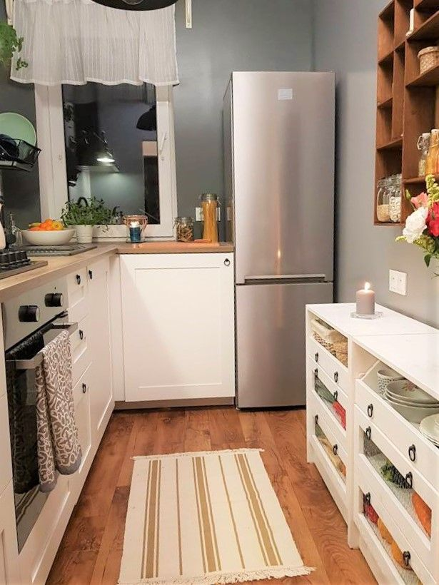 Kuchnia W Stylu Farmhouse Kitchen Cabinets Kitchen Home Decor