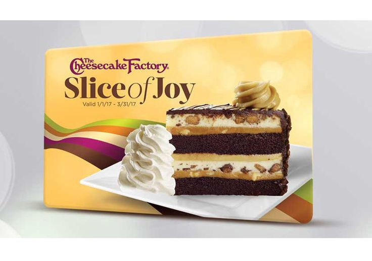 1/6. Win It! A $50 Cheesecake Factory Gift Card