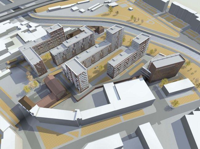 Архитектурная концепция многофункционального жилого комплекса на Большой Почтовой