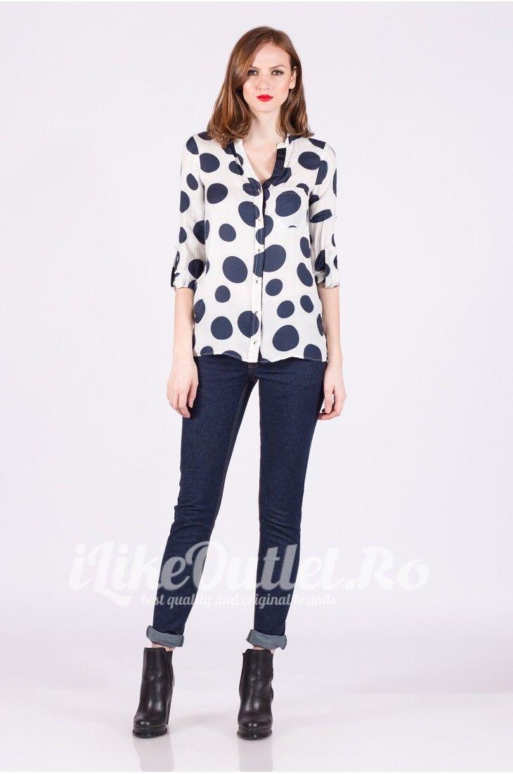Jeans skinny bleumarin cu talie inalta CHEAP MONDAY