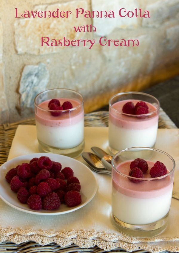 Italian Food Forever » Lavender Panna Cotta With Raspberry Foam.