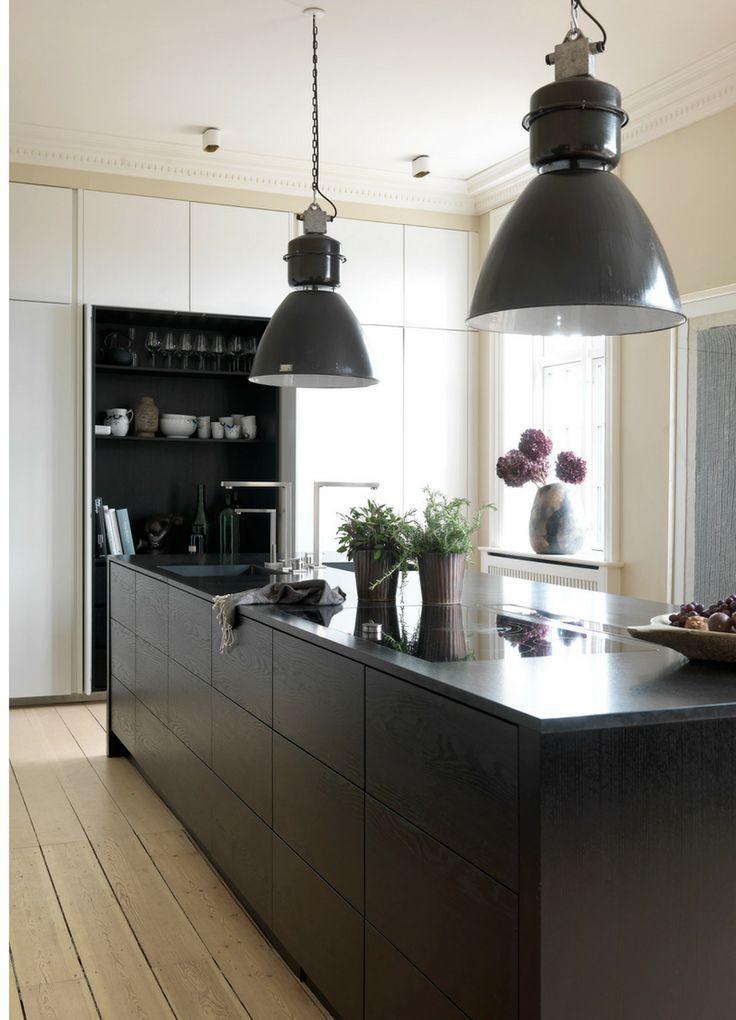 78 besten dunkle k chen schick durch schwarz grau bilder auf pinterest arbeitsplatte. Black Bedroom Furniture Sets. Home Design Ideas