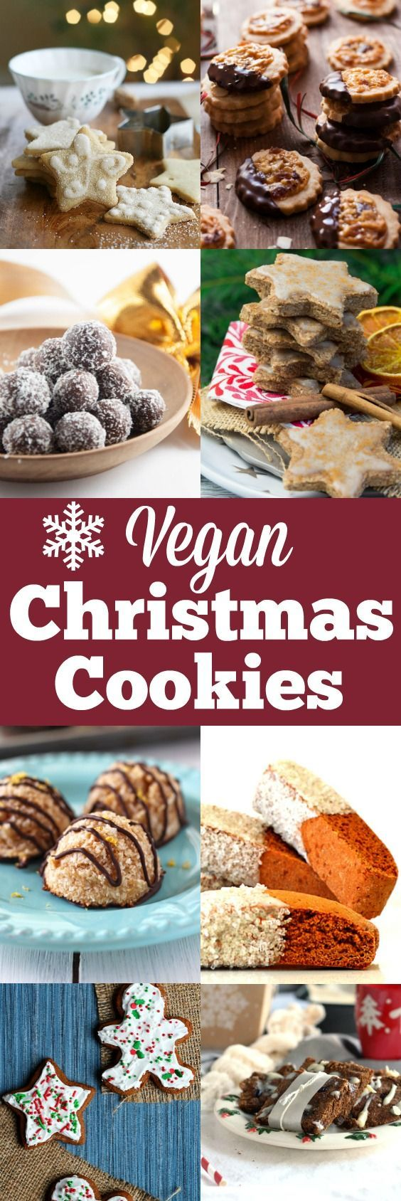 Celebrate Christmas season with these delicious and creative Christmas cookies. They're all 100 % vegan. Perfect for your holiday baking and Christmas party!