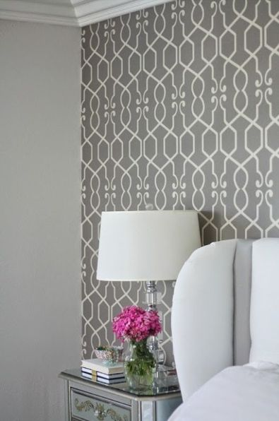 "Wallpaper also makes a great statement when it is used on just one wall, creating a beautiful backdrop for a ""picture perfect"" room. Wallpaper pictured is available through Endless Ideas Interiors #EndlessIdeas"