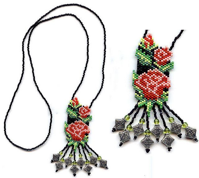 Red Roses Beaded Necklace | Flickr - Photo Sharing!