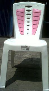 Selatan Jaya distributor barang plastik Surabaya: Kursi makan plastik kombinasi putih dengan sandara...