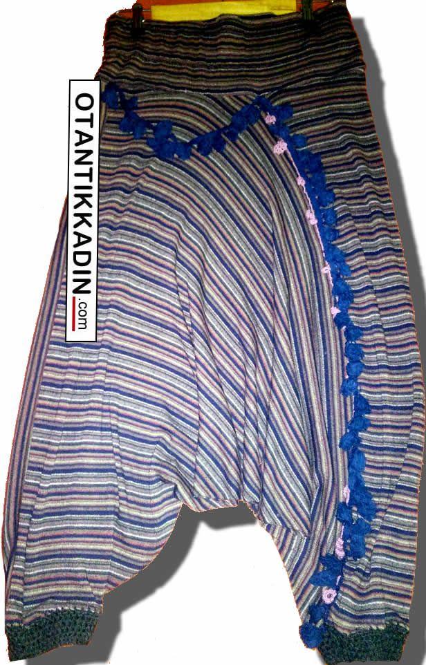 Otantik Triko Şalvar -131216 | Otantik Kadın, Otantik Giysiler, Elbiseler,Bohem giyim, Etnik Giysiler, Kıyafetler, Pançolar, kışlık Şalvarlar, Şalvarlar,Etekler, Çantalar,şapka,Takılar