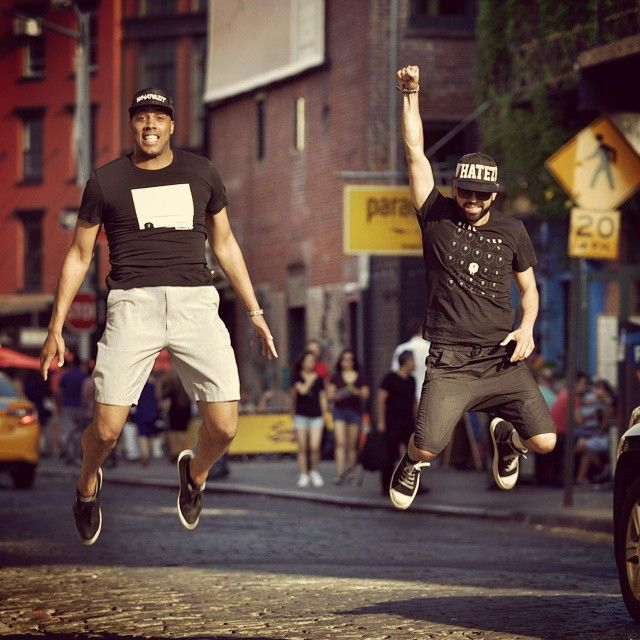 Take that leap of faith today! Jump! Follow us on Instagram!  #whatezitny #hats #flyhigh #jumpshot #newyork #two #men #StreetFashion #Style #BeCool #BeYourself #We #weariteverywhere  #Comfy