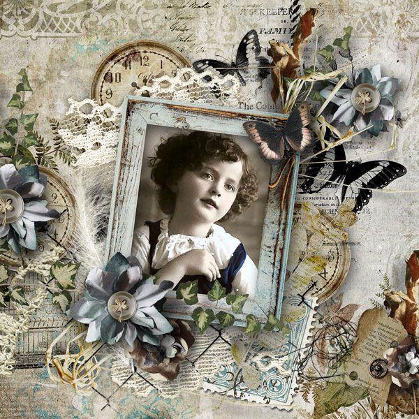 """""""Contentment"""" - Bundle by Manuela   http://shop.scrapbookgraphics.com/Contentment-bundle.html  save 30%  photo Retro magic moonlight"""