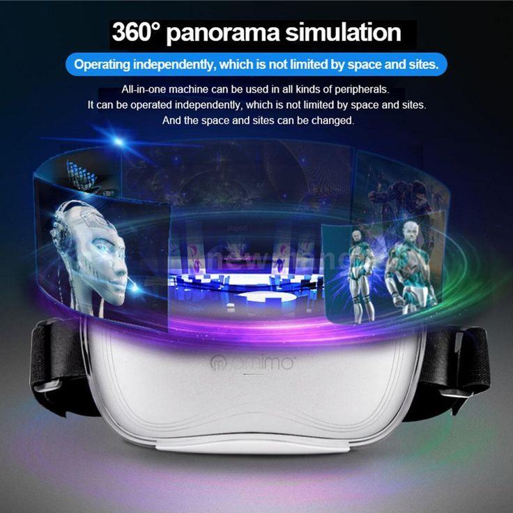 Smart Octa Core 2GHz Andriod 4.4 3D VR Glasses Virtual Reality Headset Box 1080P #Omimo
