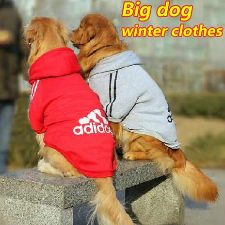 New Pet clothes for dogs Large dogs winter coat Big dog Hoodie apparel 100%Cotton Clothing for dog sportswear T-Shirts