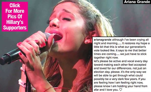 nice Ariana Grande's Message Of Love: 'I'm Holding Your Hand' After Donald Trump Win Check more at http://10ztalk.com/2016/11/10/ariana-grandes-message-of-love-im-holding-your-hand-after-donald-trump-win/