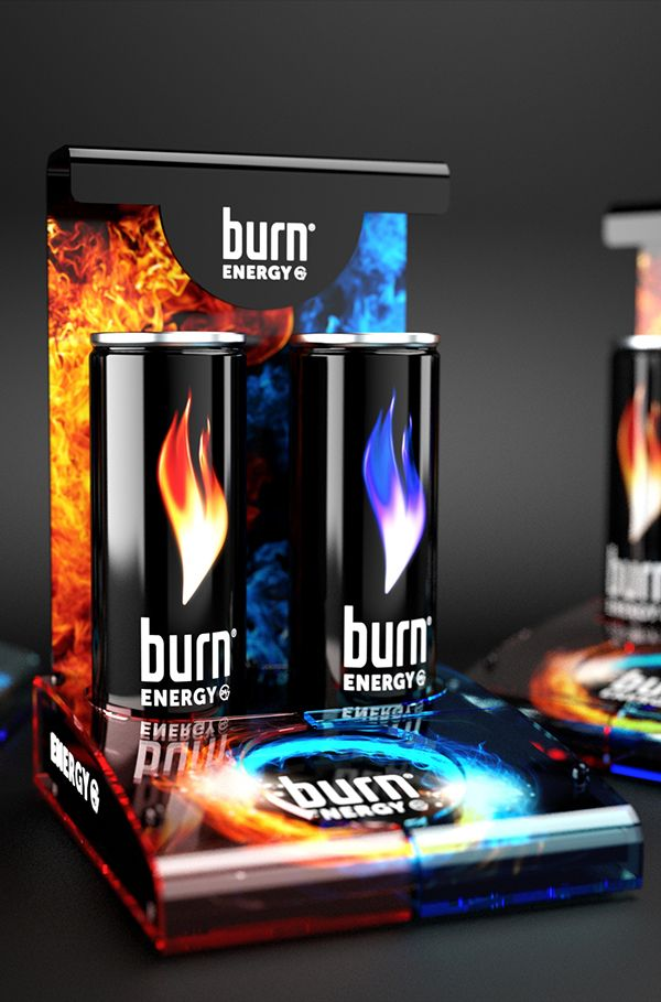 Burn POS display on Behance