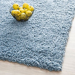 @Overstock - This hand-woven light blue rug offers unparalleled style that is comfortable and classic. Made from synthetic fiber with a cotton canvas backing, this shag rug with fine craftsmanship and bright coloring will look great in a living room or bedroom. http://www.overstock.com/Home-Garden/Hand-woven-Bliss-Light-Blue-Shag-Rug-86-x-116/5647159/product.html?CID=214117 $422.99
