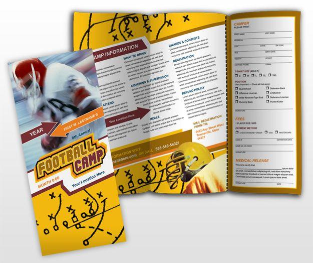 Another sports brochure using diagonals Brochure inspiration - sports brochure