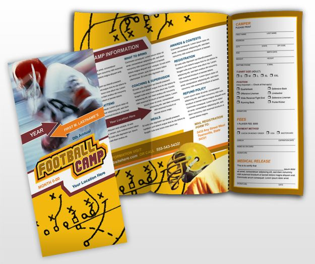 Another sports brochure using diagonals – Sports Brochure