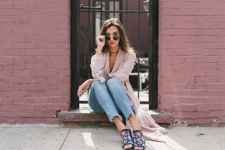 Blush Trench Coat + Embroidered Details - theIncogneatist by Melissa Frusco    #springstyle #mules #shoeinspo #springshoes #trenchcoat #springcoat #springjacket #springoutfit #bodysuit #cuteoutfit #jeansoutfit #fashionblogger #nycblogger #styleinspo #springfashioninspo #hairinspo #longhairstyle #wavyhair #beautyblogger