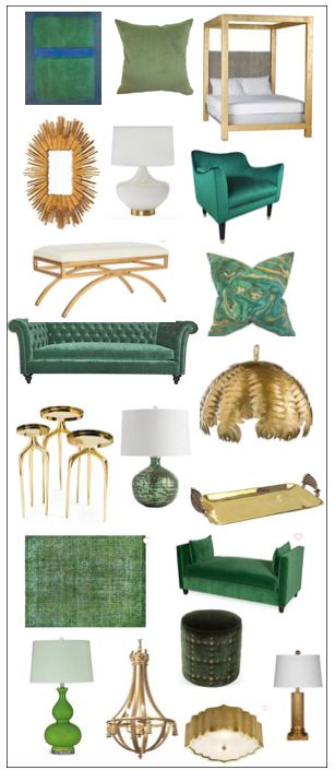 Green and gold rooms - so pretty for spring