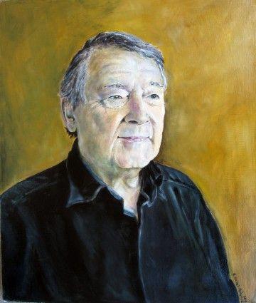 Men's portrait, oil on canvas by Kamila Guzal-Pośrednik