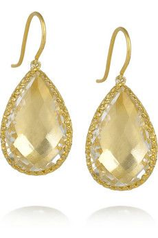 22 karat gold dipped topaz earrings.