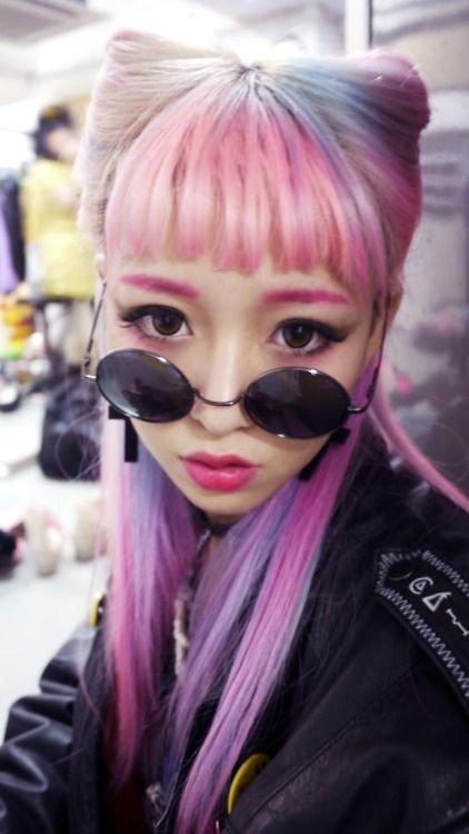 """If you like the car ear look from earlier but you'd prefer a more subtle shape, try this Gyaru cat ear style! The """"ears"""" are created by sectioning the side ..."""