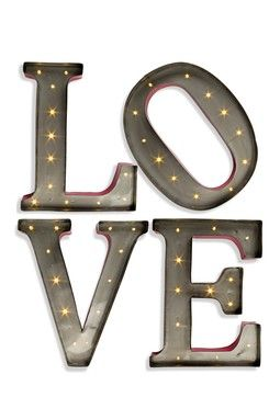 Led Lit Love Wall Art For The Home Metal Letters