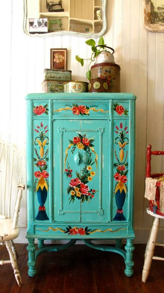 96 Best Ideas About Floral Painted Furniture On