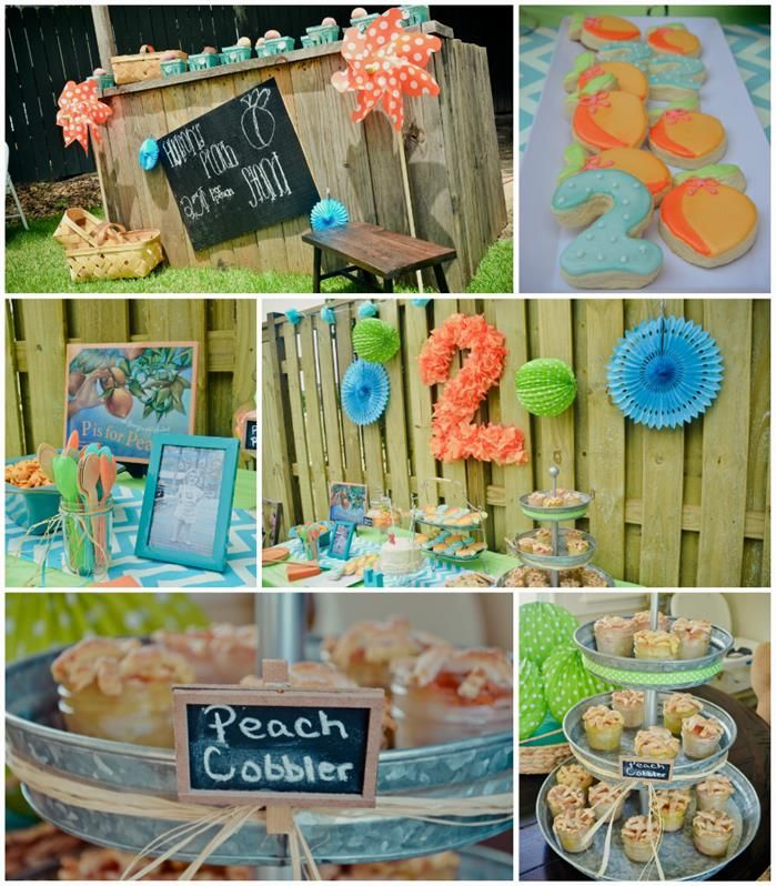 Peach Stand 2nd Birthday Party With DARLING IDEAS Via Kara