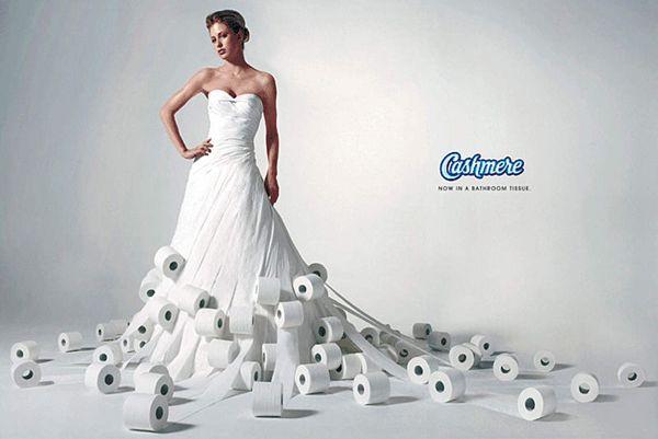 Des robes de mariée en papier toilette !