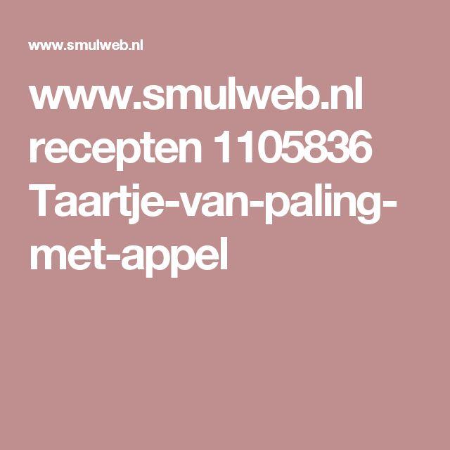www.smulweb.nl recepten 1105836 Taartje-van-paling-met-appel